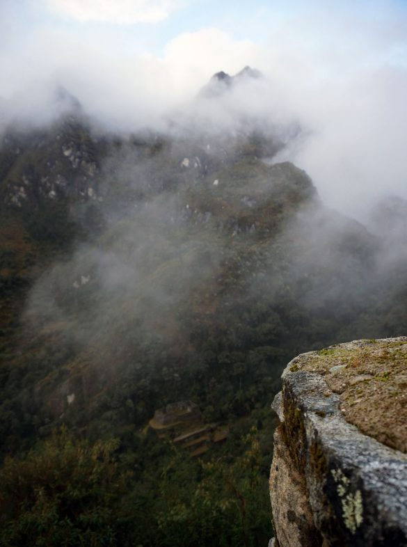 Ruins Among Mountains and Mist