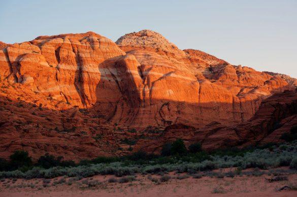 Sunrise in the Desert Snow