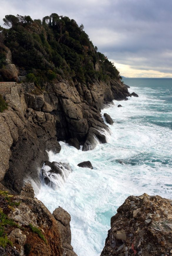 The Sea Crashing Against Portofino